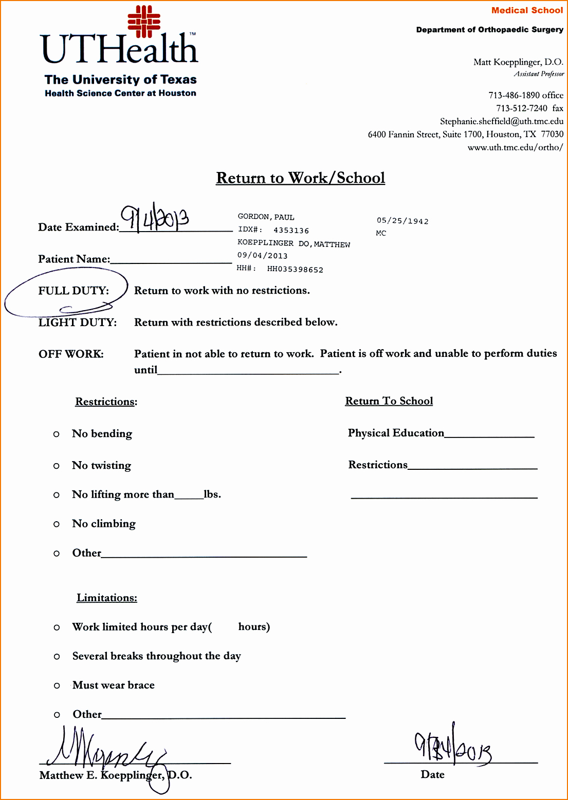 Emergency Room Doctor Note Template Beautiful 5 Doctor's Note for School