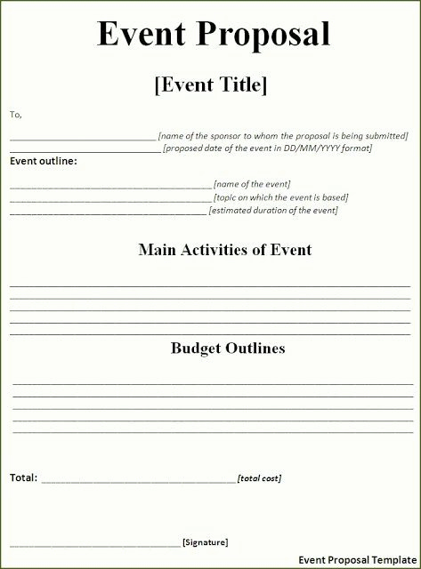 Event Budget Proposal Template Best Of event Proposal Template Free Download