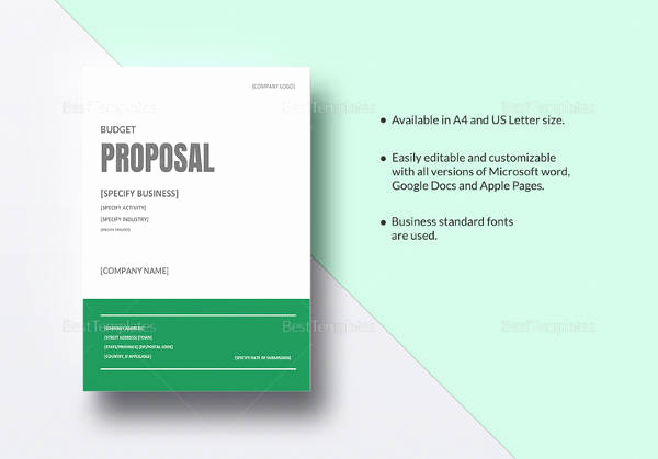 Event Budget Proposal Template Best Of Free 20 Sample Bud Proposal Templates In Google Docs
