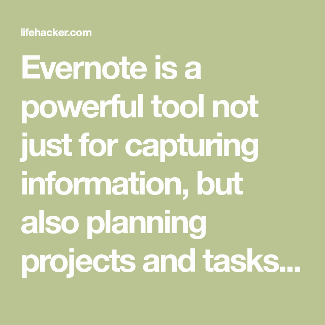 Evernote Project Management Template Inspirational Get Things Done with Evernote Using Gtd Templates