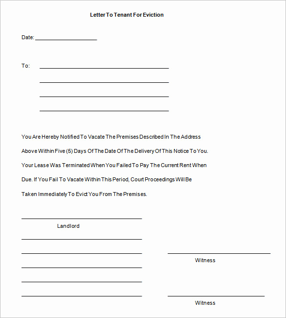 Eviction Notice Letter Template Lovely 38 Eviction Notice Templates Pdf Google Docs Ms Word