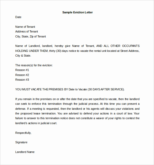 Eviction Notice Letter Template Luxury How to Write An Eviction Notice
