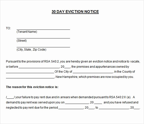Eviction Notice Template Alabama Luxury Printable Sample 30 Day Notice to Vacate Template form