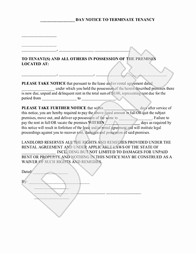 Eviction Notice Template Florida Beautiful Tenant Eviction Notice – Emmamcintyrephotography