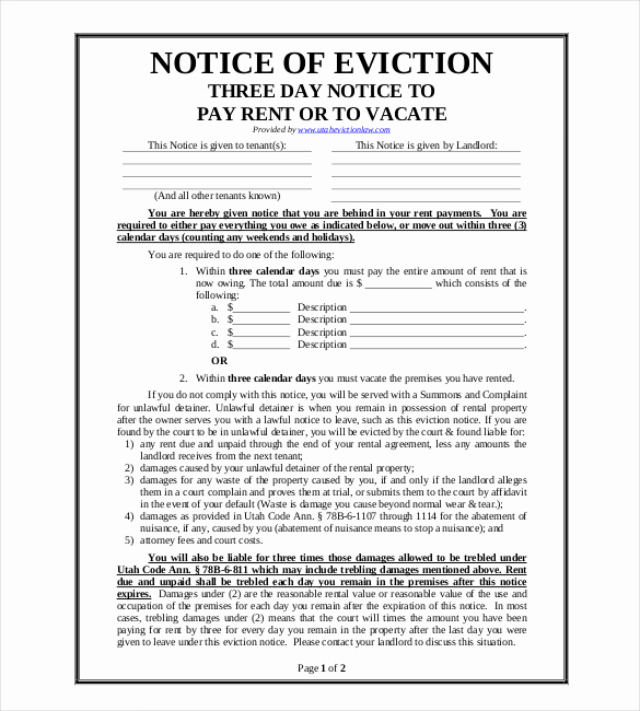 Eviction Notice Template Pdf Best Of 38 Eviction Notice Templates Pdf Google Docs Ms Word
