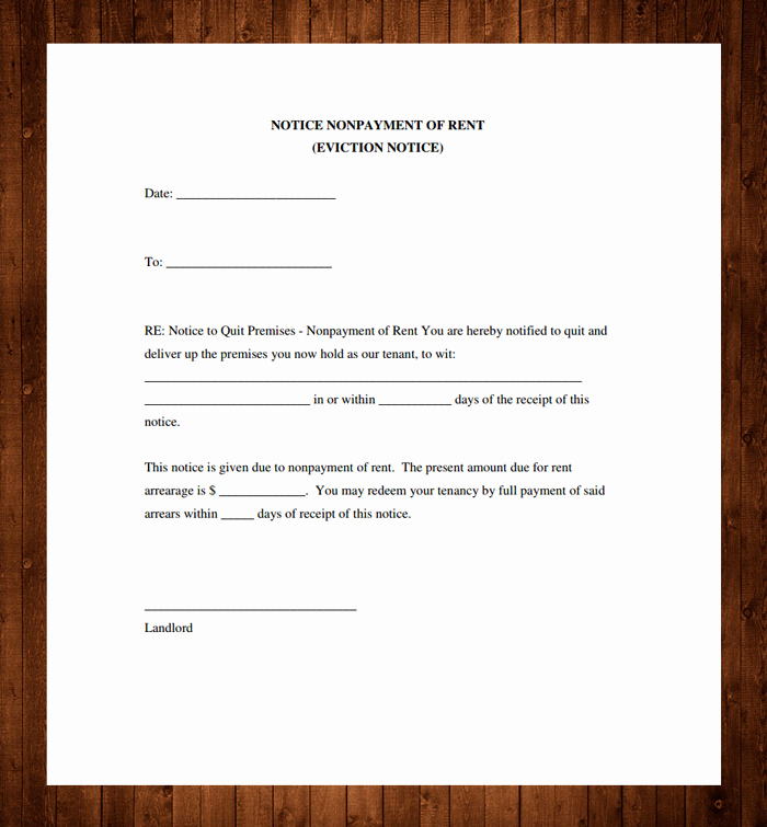 Eviction Notice Template Pdf Luxury 12 Free Eviction Notice Templates for Download Designyep