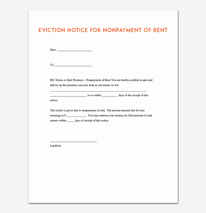 Eviction Notice Template Pdf New Eviction Notice Template 5 Blank Notices for Word Pdf