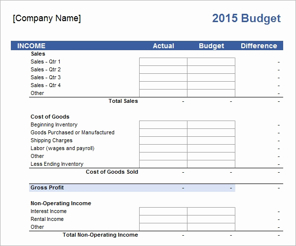 Excel Business Budget Template Awesome Free 16 Sample Business Bud Templates In Google Docs
