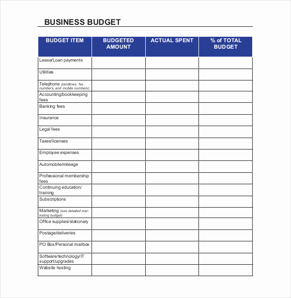 Excel Business Budget Template Best Of 18 Sample Business Bud Templates Word Pdf Apple