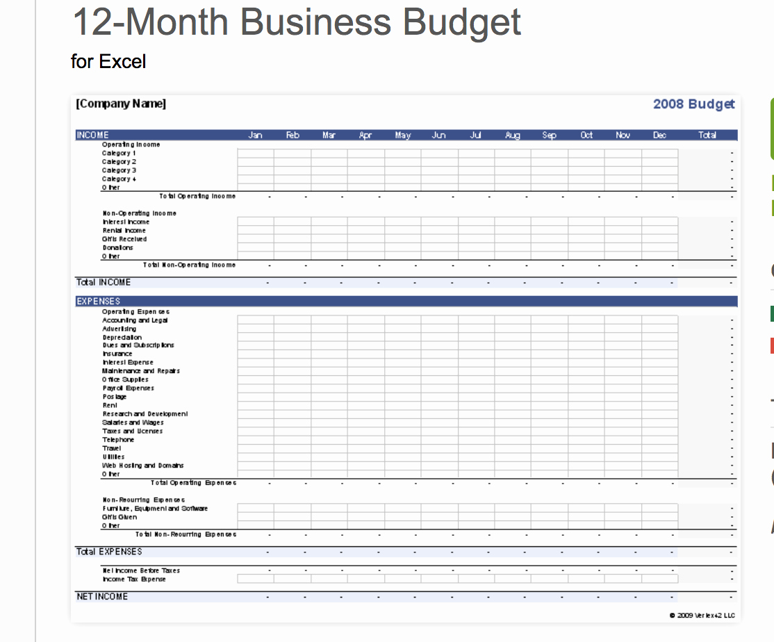 Excel Business Budget Template Elegant 7 Free Small Business Bud Templates