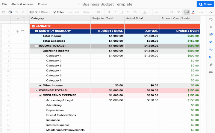 Excel Business Budget Template Luxury Free Bud Templates In Excel