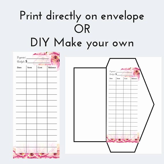 Excel Envelope Budget Template Awesome Printable Cash Envelopes and Bud Planner Dave Ramsey