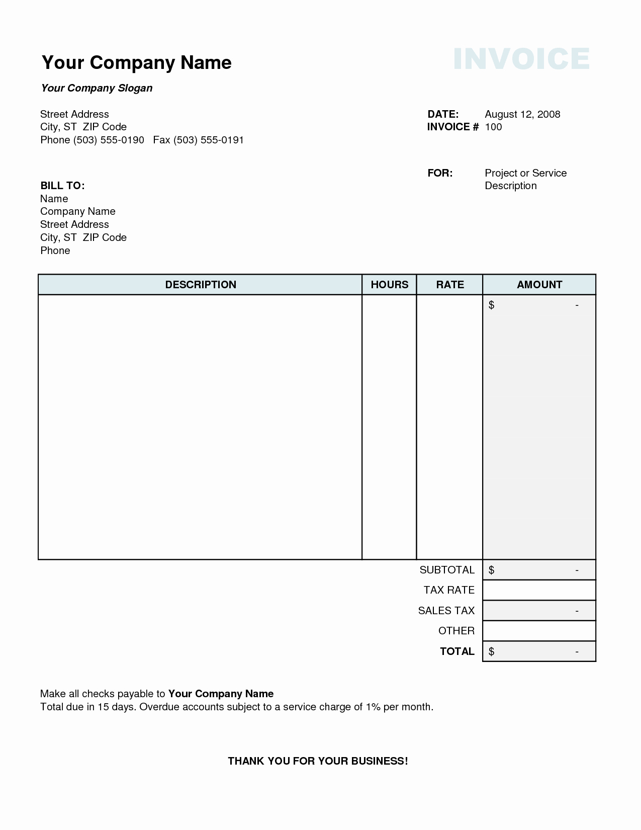 Excel Invoice Template 2003 Fresh Tax Invoice Template Excel