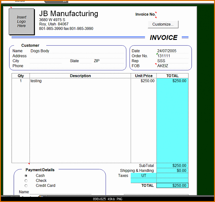 Excel Invoice Template 2003 Lovely 10 Microsoft Excel Invoice Template