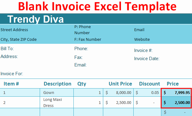Excel Invoice Template 2003 Lovely How to Create Blank Invoice Template In Excel with Example