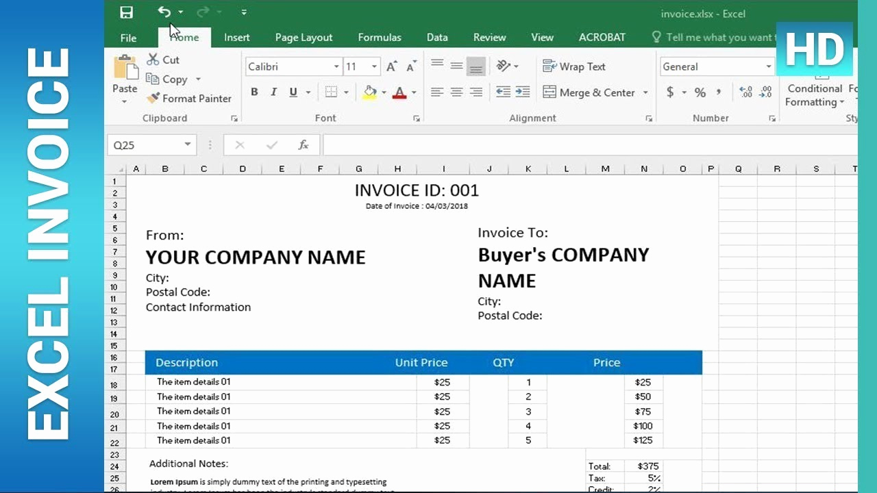 Excel Invoice Template 2003 New How to Create An Invoice Template In Excel Excel