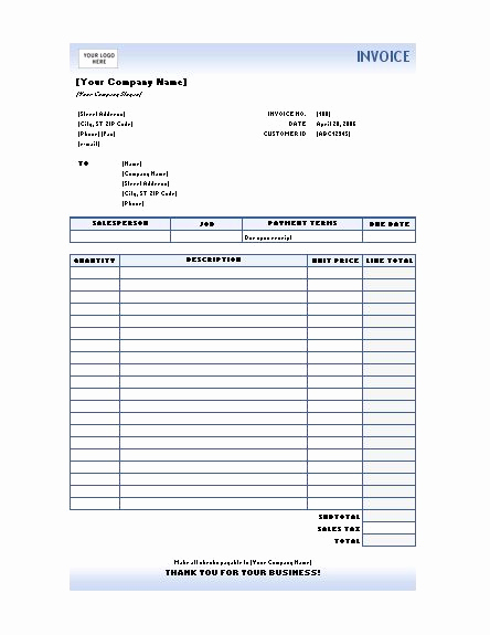 Excel Invoice Template 2003 Unique Free Excel Invoices Templates Download