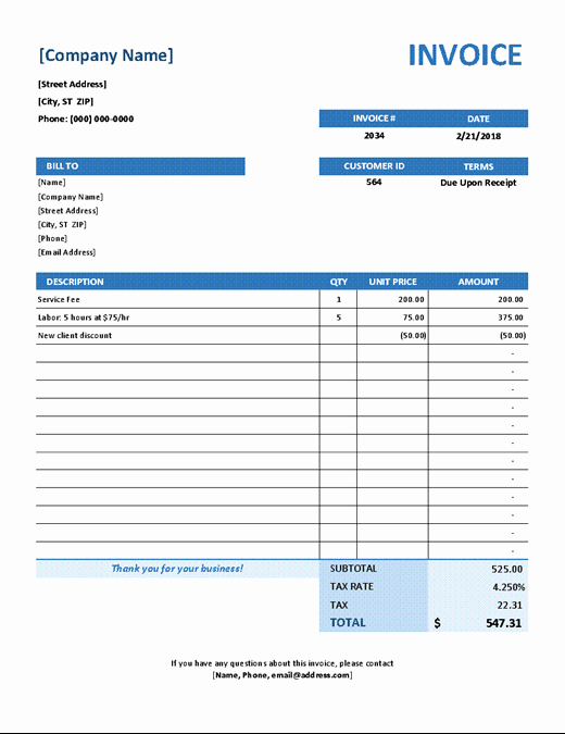Excel Invoice Template 2003 Unique Invoices Fice