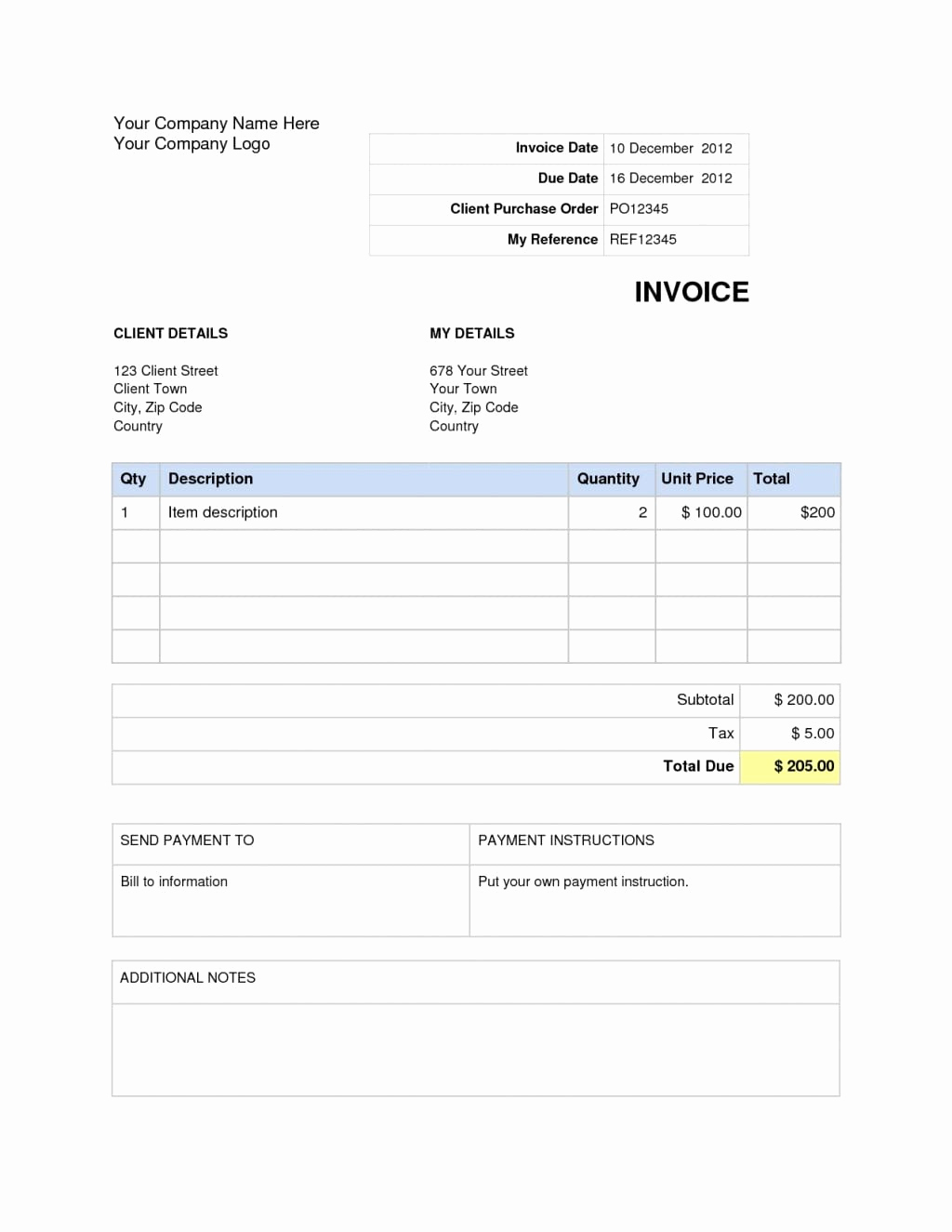 Excel Invoice Template Mac Best Of Invoice Template Word Mac Excelxo