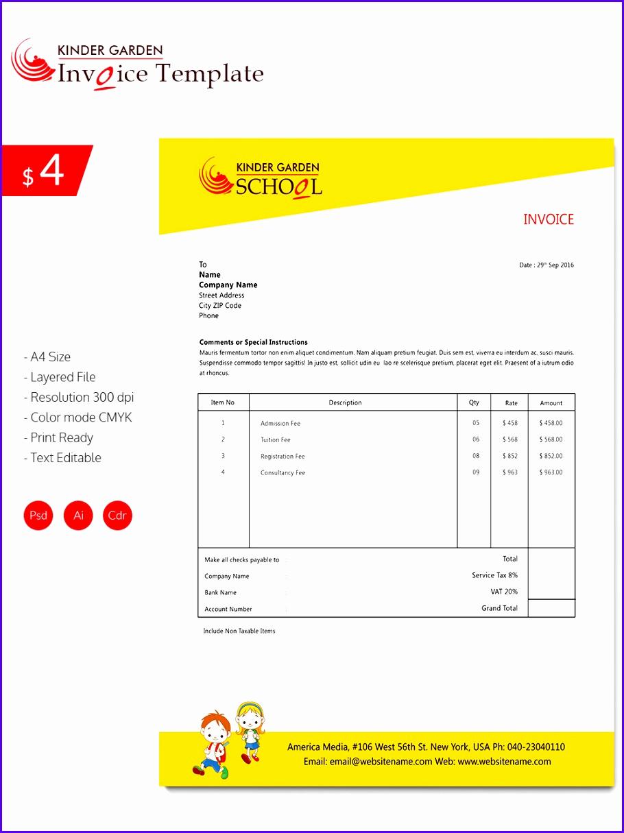 Excel Invoice Template Mac Elegant 5 Excel Templates Mac Exceltemplates Exceltemplates