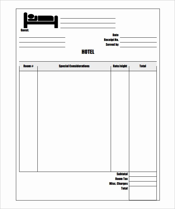 Excel Invoice Template Mac New Sample Hotel Invoice Template Free Invoice Template for