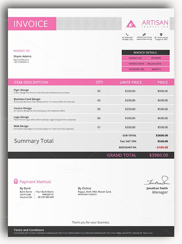 Excel Invoice Template Mac Unique Sample Of Invoice Template Sample Invoice Template for