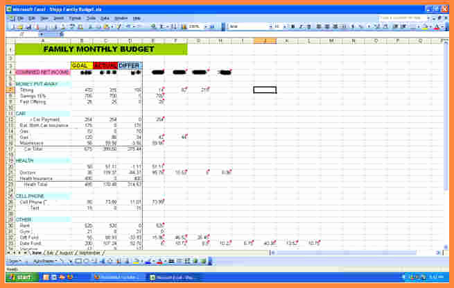 Excel Personal Budget Template Lovely 3 Bud Spreadsheet Template Excel