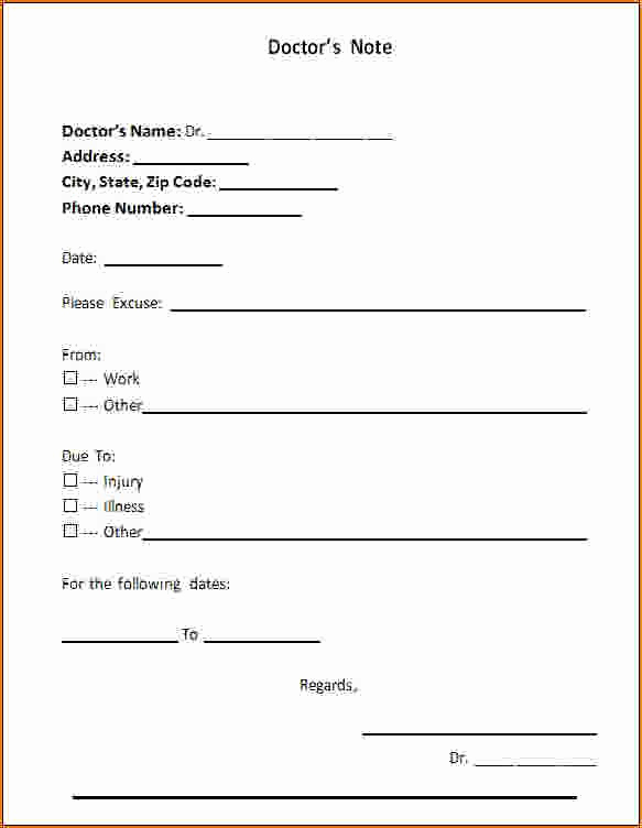 Fake Hospital Note Template Best Of Printable Fake Doctors Notes Free