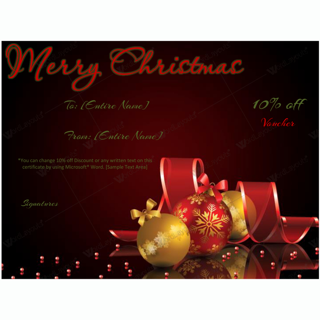 Fancy Gift Certificate Template Best Of Christmas Gift Certificate Template 03 Word Layouts