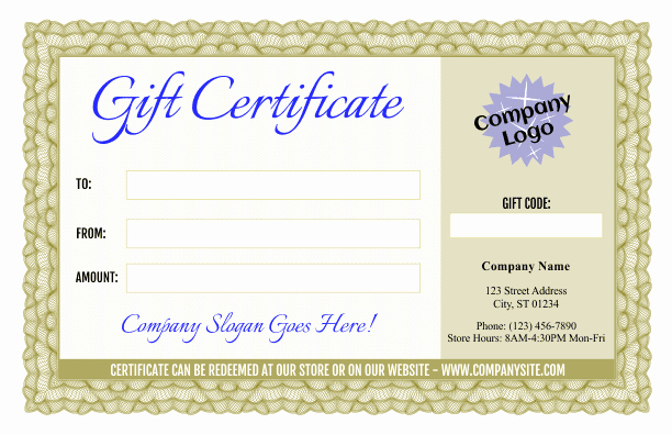 Fancy Gift Certificate Template Best Of formal Gift Certificate Templates 3 and 4