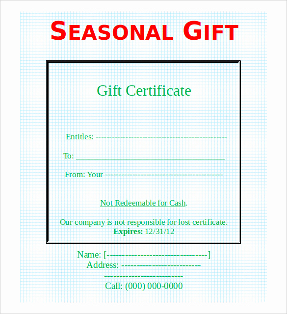 Fancy Gift Certificate Template Elegant 41 Sample Certificate Templates Pdf Doc