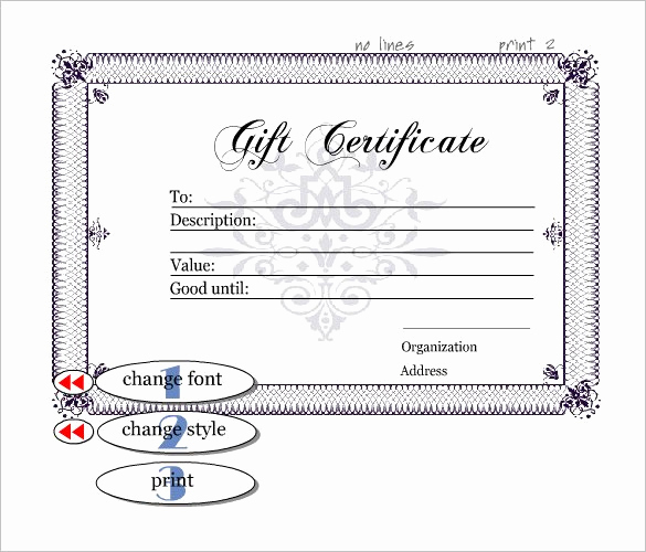 Fancy Gift Certificate Template Elegant Gift Certificate Template 42 Examples In Pdf Word In