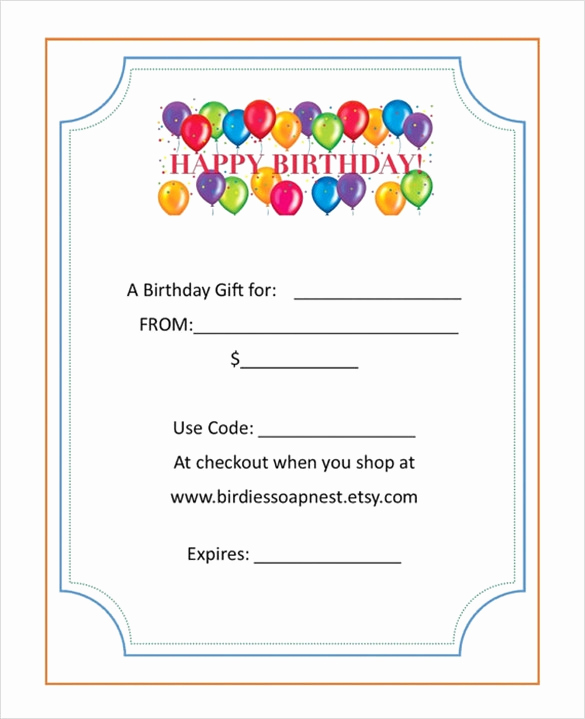 Fancy Gift Certificate Template Luxury Sample Birthday Gift Certificate Template 7 Download