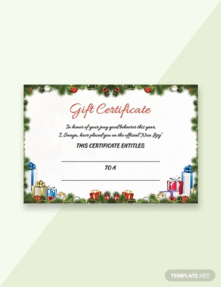 Fancy Gift Certificate Template Unique Free 19 Gift Certificate Examples In Psd Word