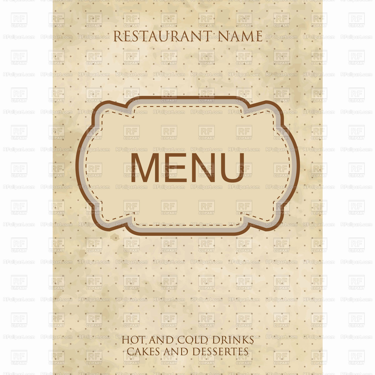 Fancy Restaurant Menu Template Beautiful Vintage Style Restaurant or Cafe Menu Design with Fancy