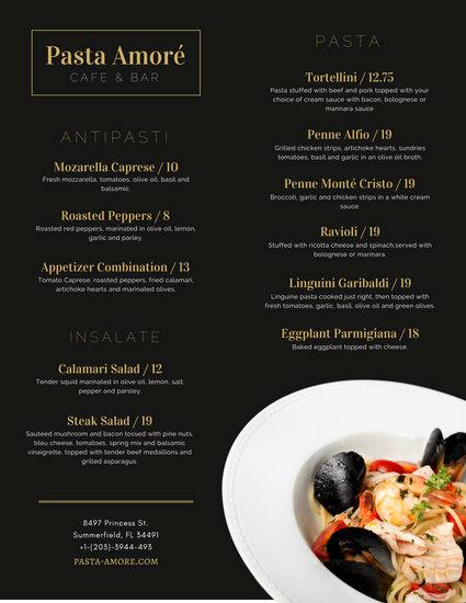 Fancy Restaurant Menu Template Fresh Elegant Menu Templates Canva