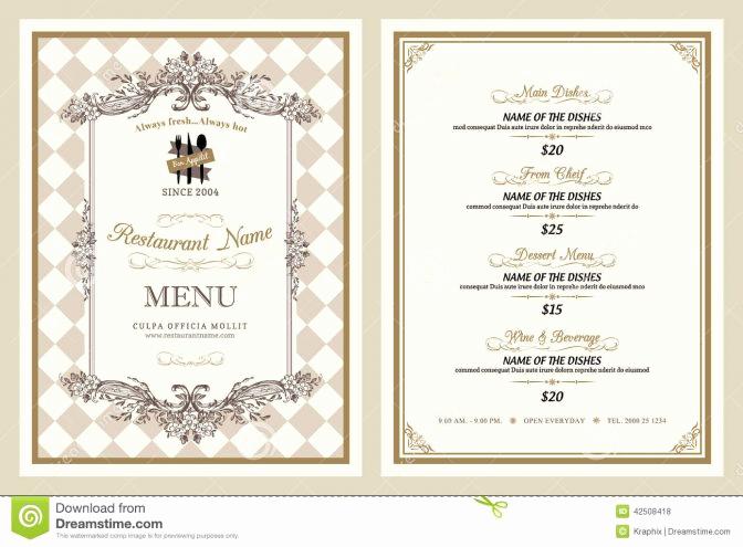 Fancy Restaurant Menu Template Inspirational Coloring Sheet Tremendous Fancy Menu Design Ideas