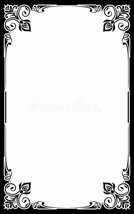 Fancy Restaurant Menu Template Inspirational Restaurant Menu Card Frame Template Stock Vector