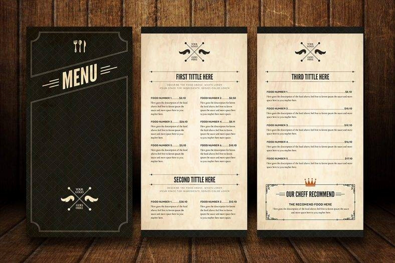 Fancy Restaurant Menu Template Luxury 32 Bar Menu Designs
