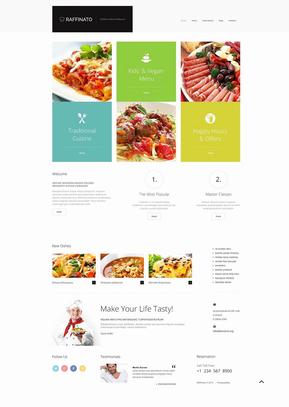 Fancy Restaurant Menu Template Luxury Fancy Restaurant Wordpress theme