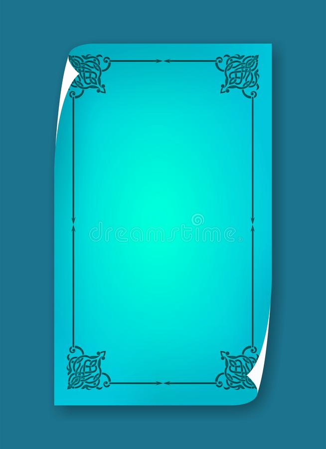 blank template menu card background frame cute fancy page frame restaurant restaurant menu card frame template image