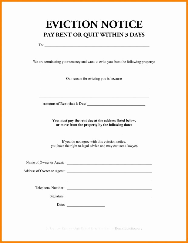 Florida Eviction Notice Template Fresh 3 Day Eviction Notice Florida Beneficialholdings Info