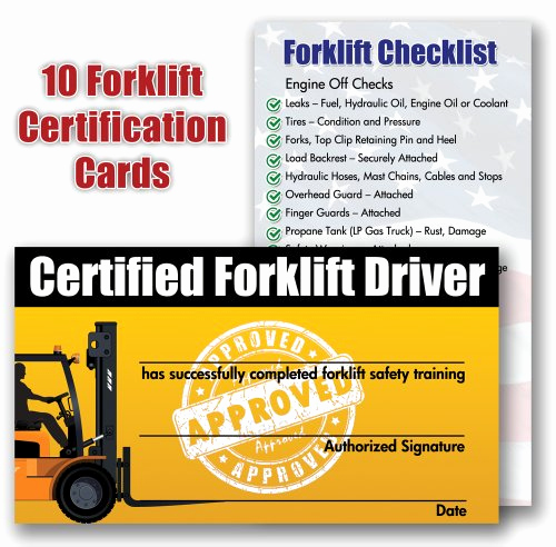 Forklift Certificate Template Free Best Of forklift Certification Training Cards Package Of 10 New