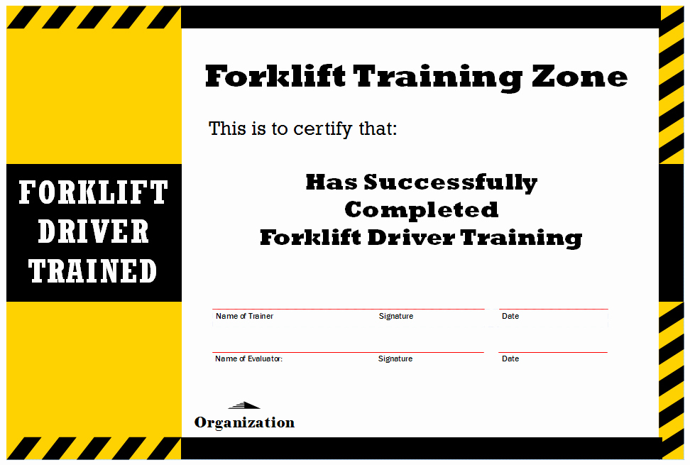 Forklift Certificate Template Free Best Of New Blog 1 forklift Certification