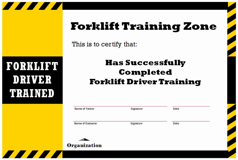 Forklift Certificate Template Free Best Of New Blog 1 forklift Certification