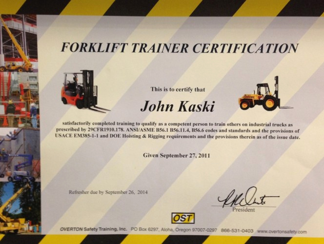 Forklift Certificate Template Free New forklift Certification Driverlayer Search Engine