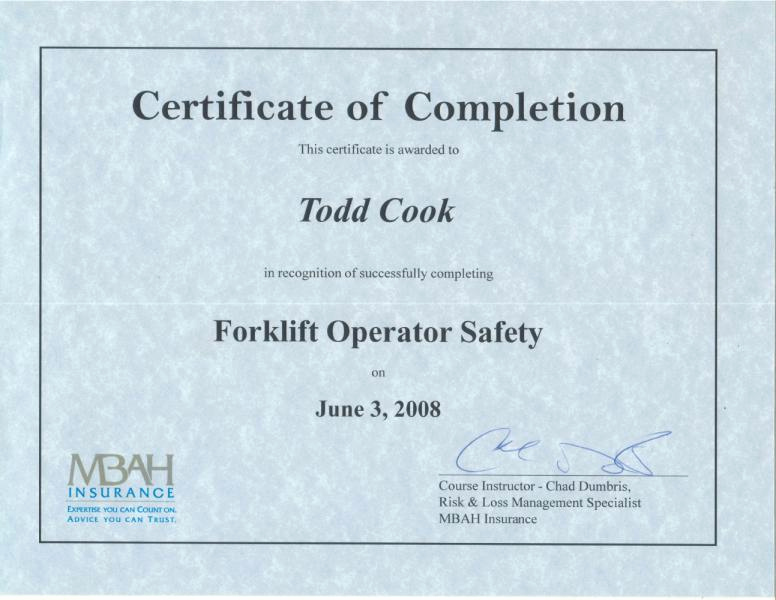Forklift Certificate Template Free Unique 24 Of Operator Card Template
