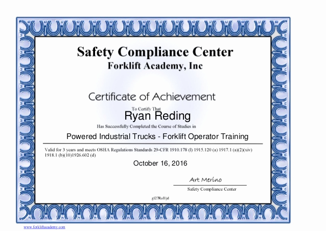 Forklift Training Certificate Template Inspirational Indiv English Certificate Of Pletion