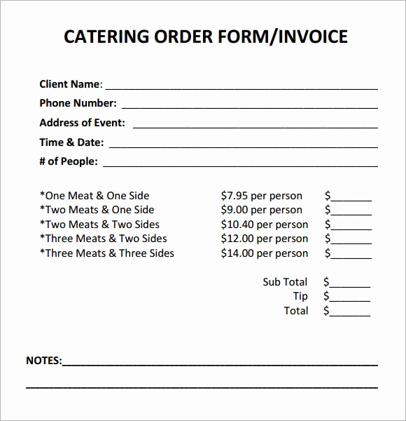 Free Catering Invoice Template Best Of Free 17 Catering Invoice Samples In Google Docs