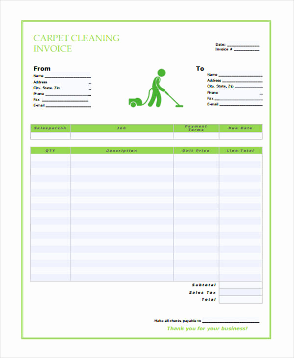 Free Cleaning Invoice Template Awesome 36 Free Receipt Templates